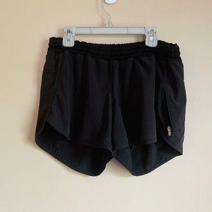 """Lululemon Black Shorts size 10 zipper pocket 4"""""""